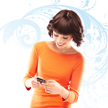 woman ordering title and escrow via text sms messaging