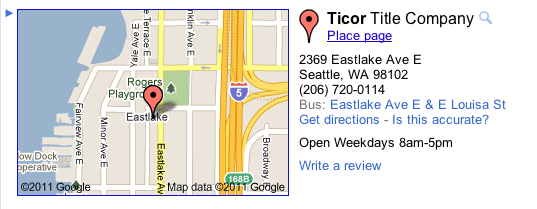Ticor title seattle