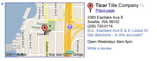 Ticor title seattle