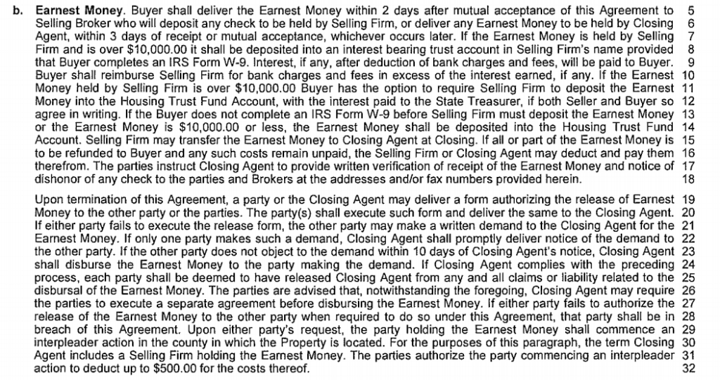nwmls form21 paragraph b