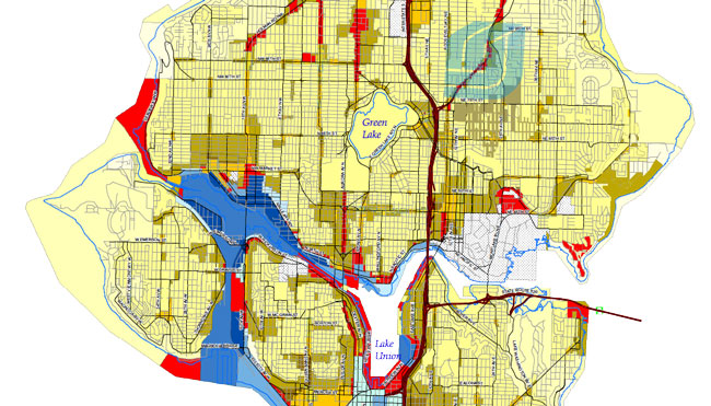 Zoning Map Example - Seattle
