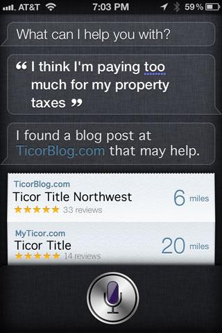 Siri Property tax response