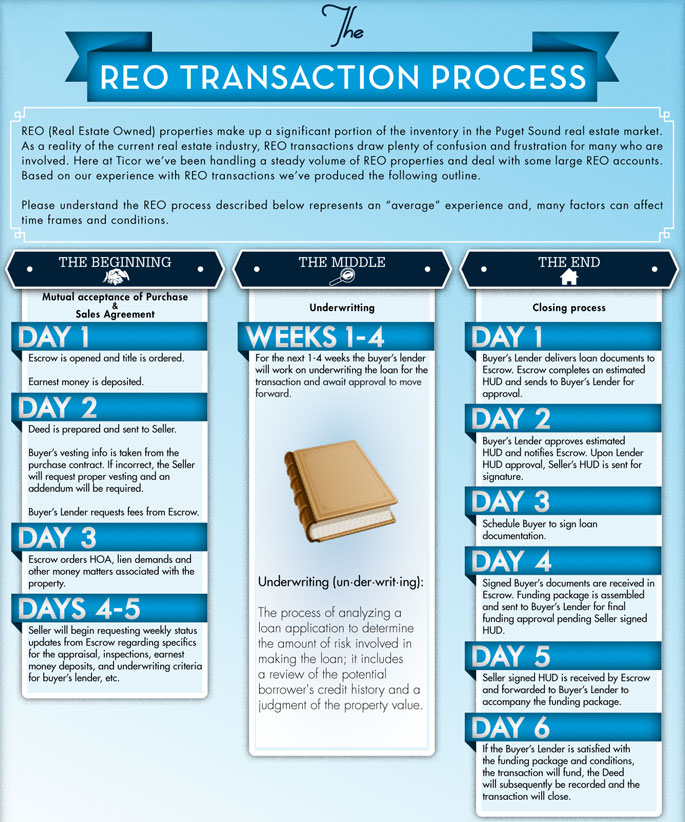 REO Transaction Process Infographic