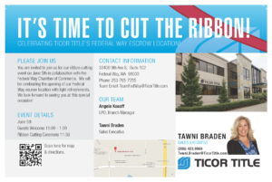 Ticor Title Federal Way Grand Opening