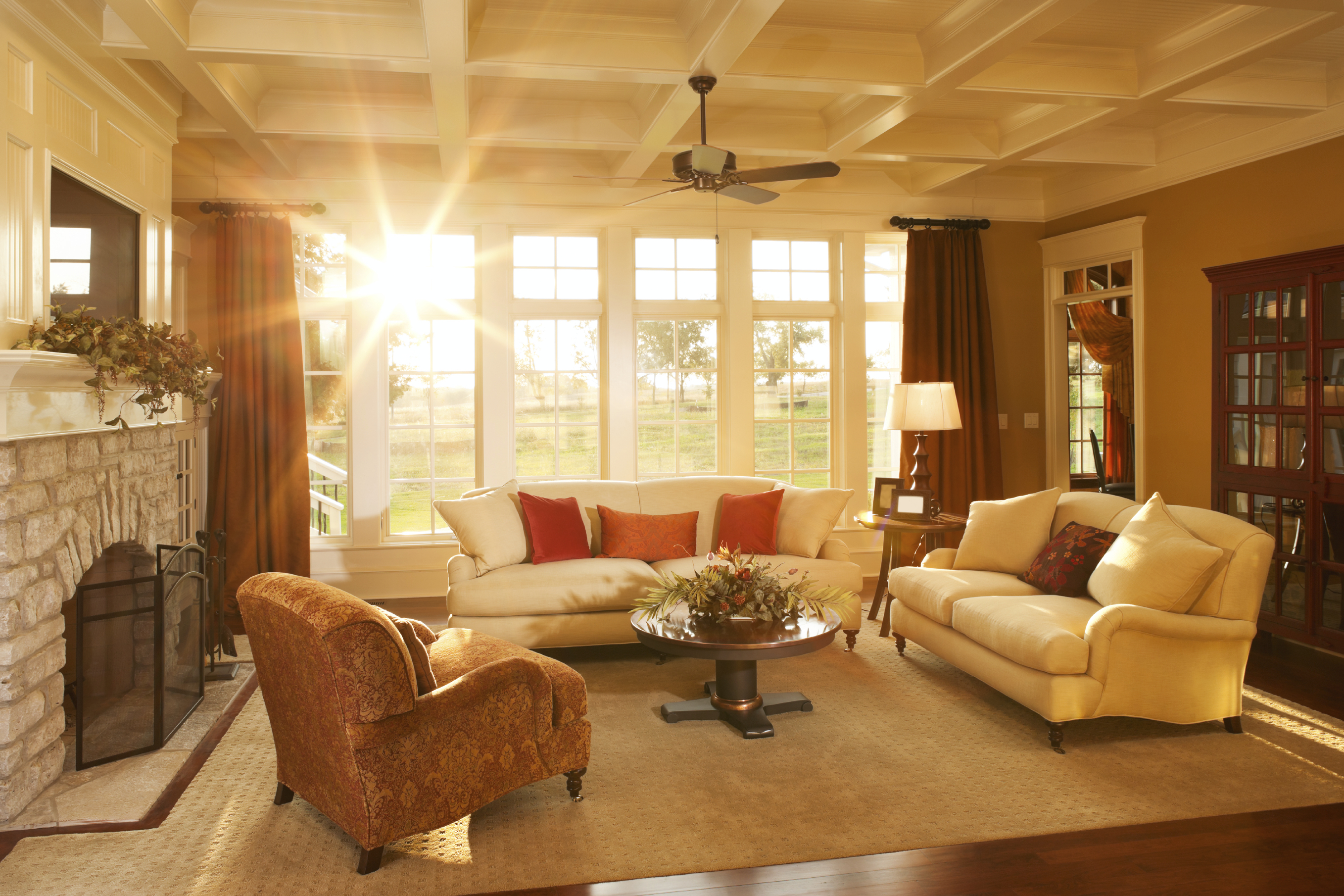 Warm Elegant Sunlit Living Room Ticor Title