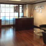 A view of the reception area at Ticor Title in Everett