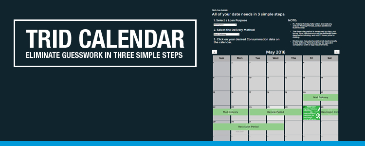 TRID Calendar - Determine Consummation Date