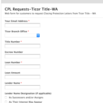 Ticor Title Instant Closing Protection Letter