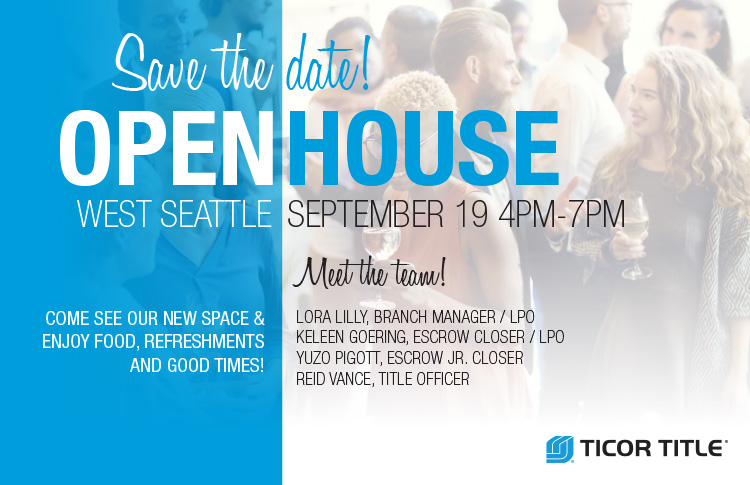 West Seattle Open House September 19th 4PM