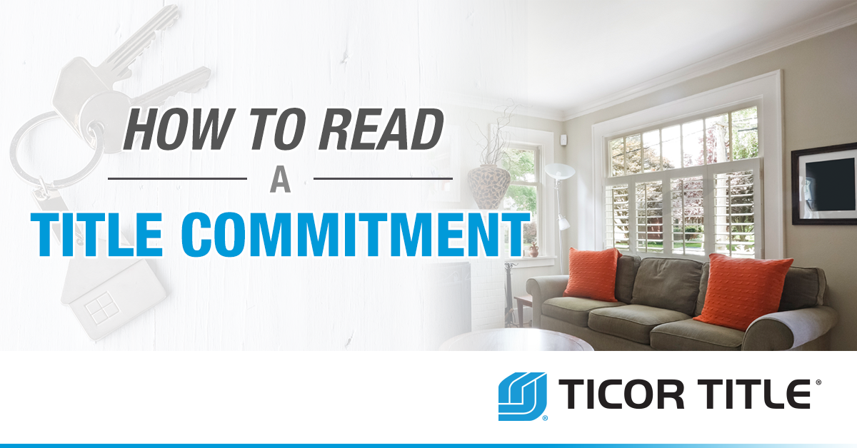 How to Read a Title Commitment