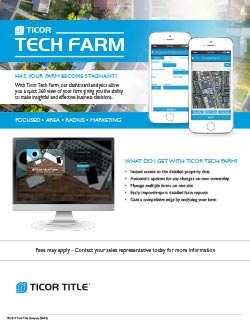 Ticor Tech Farm Flyer