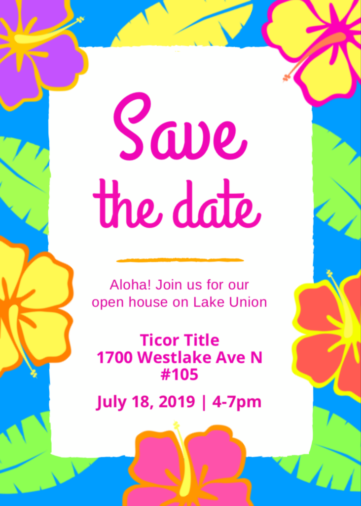 Join us for our open house on Lake Union